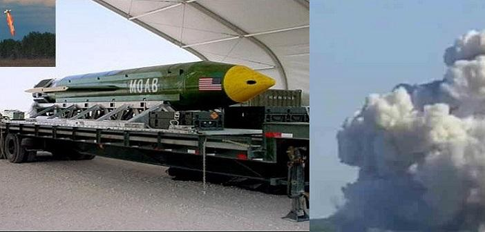US Army successfully drops a big Bombs called `Mother Of All Bombs`